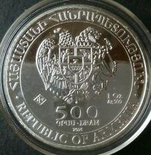 2016 Armenia 500 Dram 1oz Silver Noah's Ark Coin