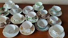 Lot of 15 Vintage China Tea Cups And Saucers! Many gilt! Various makes VG Cond