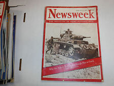 Newsweek Magazine Axis In Tunisia Is A Tough Nut February 1943 VINTAGE 093016R