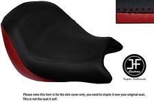 Rojo oscuro y negro personalizado de vinilo cabe Honda VTX 1800 02-04 frente cubierta de asiento solamente