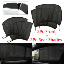 4X Car Kids Sun Shade Shield Rear + Front Side Window Large Square Cover UV Mesh