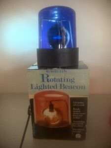 ~ Red Or Blue Fire Police Light Beacon Rotating Spinning Flashing Party Lamp