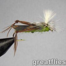 1 dozen (12) - Para Hopper (Parachute Grasshopper) - OLIVE