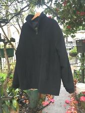 NEW Black Long Bomber Jacket 100% Baby Alpaca Mens Size ExtraLarge Parka Zipper