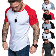1d2a415c23cf Fashion Men's Casual Fit Short Sleeve Slim Muscle Bodybuilding T-shirt Tee  Tops