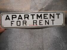 """Vintage Apartment For Rent Embossed Metal Sign 3"""" X 12"""""""