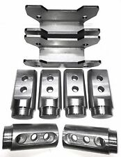 """Polaris RZR Bungs XP1000 / XP1K 4 Seat Cage Connectors Adapters 1 3/4"""" .120 wall"""
