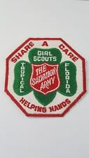 Vintage Sewn Girl Scout Patch Badge ~ Tropical Florida Salvation Army