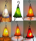 Moroccan Henna Lamp- Round base Pyramid 38 CM red/orange/cream/green/yellow