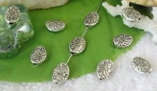 80pcs Tibetan silver leaf oval spacer beads FC9525