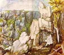 Savery Roelandt Rocky Landscape A4 Print