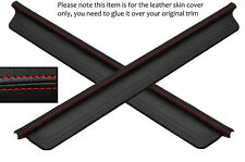 RED STITCH 2X DOOR SILL LEATHER SKIN COVERS FITS HONDA INTEGRA DC2 1993-2001