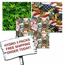 HYDRO DIP HYDROGRAPHIC FILM WATER TRANSFER PRINTING FILM HYDRO DIP PARTY 3 PACK