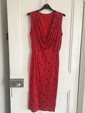 Red Vintage Terence Nolder Quorum Dress, Size UK 14