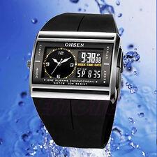 Men Black Army Alarm Analog Digital New Mens Waterproof Quartz Sport Wrist Watch
