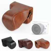 PU Leather Case Bag Cover Skin Pouch For Canon EOS M10 18-55mm 15-45mm Camera