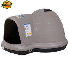 Black Igloo Dog House Heavy Duty Indigo Mircoban Taupe 25-50 Lbs.