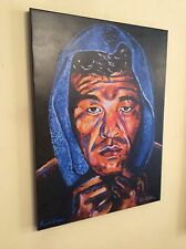 Boxing Arturo Gatti Hand Embellished Canvas Print By Patrick J Killian