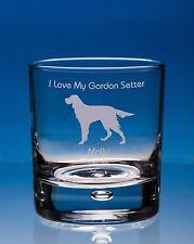 More details for gordon setter whisky glass dog gift personalised engraved dog whiskey tumbler