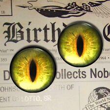 """1"""" Inch Sci-fi Dragon Eyeballs Glass Gothic Medieval Futuristic Taxidermy 25mm"""