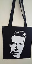 David Bowie-Face (Unisex tote bag in Black)