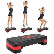 Sandinrayli 27 inch Fitness Aerobic Step Riser Exercise Stepper - Black/Red