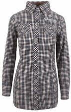 L' ARGENTINA Damen Long Bluse Longbluse Shirt Größe 38 M 100% Baumwolle Kariert