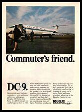 "1967 McDonnell Douglas DC-9 Twinjet Jet Airplane ""Commuter's Friend"" Print Ad"
