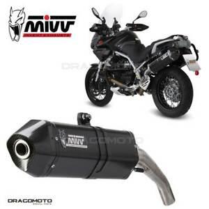 Exhaust MOTO GUZZI STELVIO 2012 2013 Speed Edge MIVV Steel Black