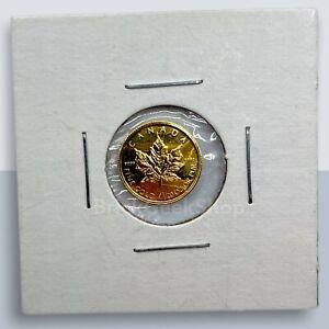 2002 1/20 oz gold maple leaf 9999 Fine Au Gold RCM Royal Canadian Mint