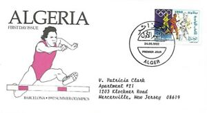 ALGERIA 1992 FIRST DAY COVER SUMMER OLYMPICS BARCELONA