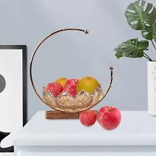 Glass Decorative Fruit Bowl for Home Decor Dessert Snack Serving Plate