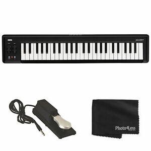 Korg microKEY2-49 USB Keyboard Controller + Sustain Pedal + Cloth