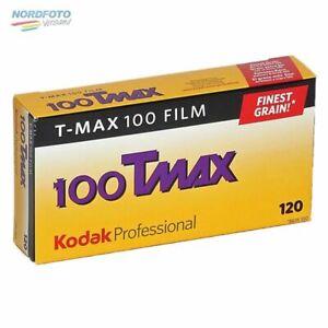 KODAK T-Max 100 (TMX) Schwarzweißfilm, 120, 5 Stück **10/2021 MHD