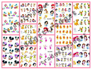 Disney Princess Mickey Minnie Nail Art Sticker Decal Manicure Water Transfer
