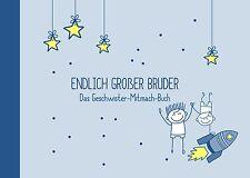 Geschenk für großer Bruder + kleiner Bruder zur Geburt: Geschwister-Buch NEU