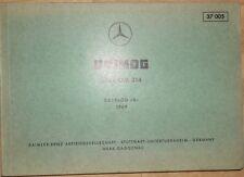 Mercedes Type OM 314 Motor-Ersatzteil- Bildtafel