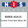 809E8-4GA1A Nissan Finisher-front door waist, rh 809E84GA1A, New Genuine OEM Par