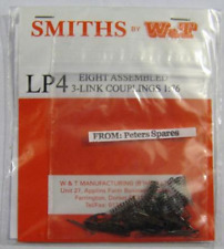 Smiths LP4 Couplings Eight Etched Brass 3 Link Couplings Assembled