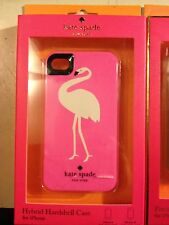 Kate Spade Pink with Flamingo / Crane Hybrid Hardshell iPhone 4/4s Case Cover