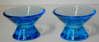 IITTALA Kaj Franck Kartio Candle Holders  2 Light Blue