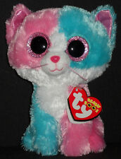 "TY BEANIE BOOS - FIONA the 6"" CAT (JUSTICE STORE) - MINT with MINT TAGS"