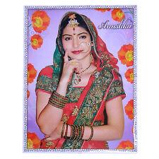 Poster Anushka Sharma rot grüner Sari 75 x 50 cm Bollywood Star Schauspielerin