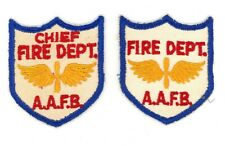 WW2 WWII US 2x Chief Fire & Department AAFB patch SSI Missing in all collections