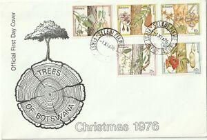 1976 Botswana FDC cover Christmas - Trees of Botswana