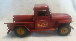 Marx WILLYS JEEP PICKUP TRUCK Old Toy 1940's Pressed Steel
