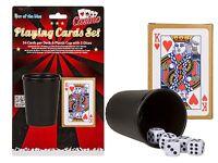 Spiele-Set Spielkarten Würfelbecher Knobelbecher 17 und 4 Skat Poker Karten Neu
