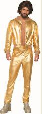 Disco Fever Singer Adult Men's Costume Shiny Gold Suit Jacket & Pants 70s 80s