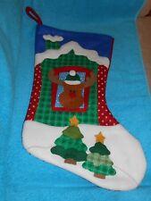 "Reindeer Felt Holiday/Christmas 17.5"" Stocking - Very Good"