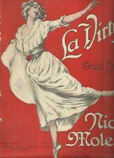 Spartito Musicale Illustrato La Virtuose Nicola Moleti per Piano Ed. Carisch